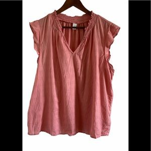 3/$30 Old navy ruffle sleeve pink blouse